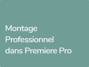 Certification Officielle Editeur Adobe Premiere Pro