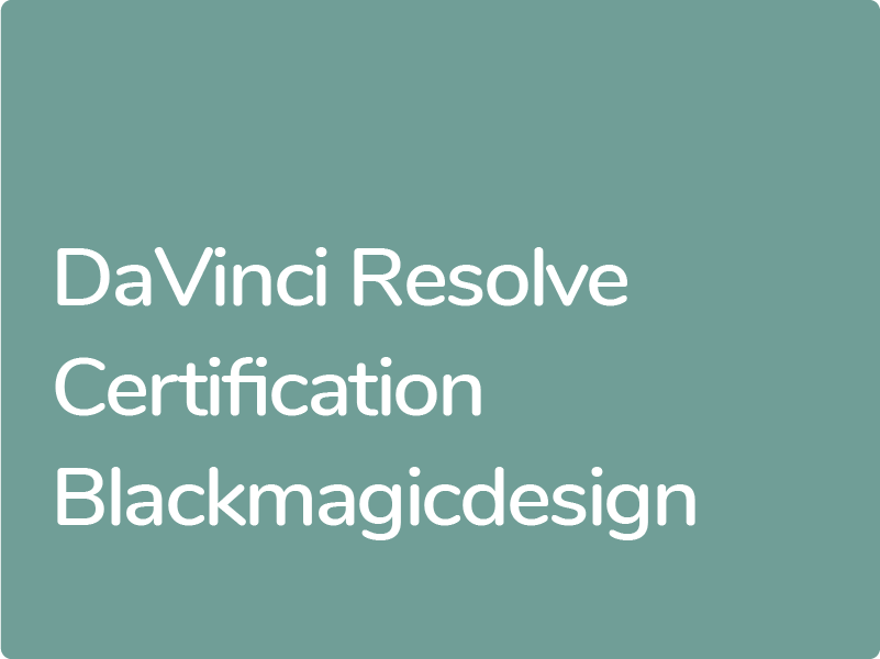 Certification DaVinci Resolve